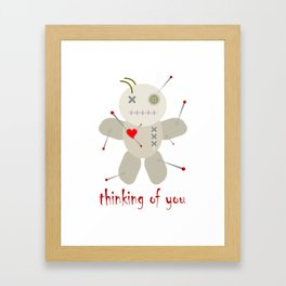 Thinking of You Voodoo Doll Goth Framed Art Print