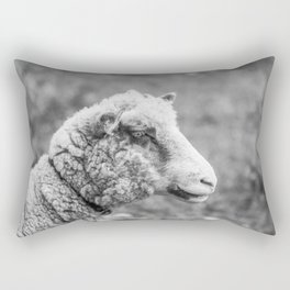 Silence of the Lamb | Black and White Rectangular Pillow