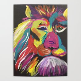 Lion Bright Poster