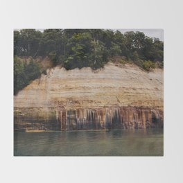 Pictured Rocks III Throw Blanket