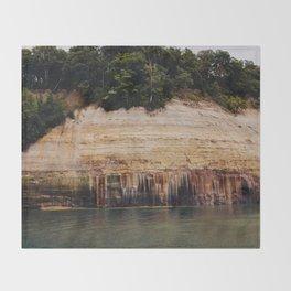 Pictured Rocks III Throw Blanket