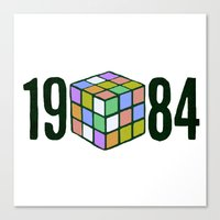 1984 Canvas Prints featuring 1984  by CaptClare