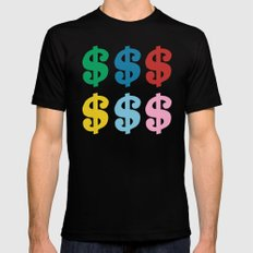 Colourful Money Black Mens Fitted Tee MEDIUM