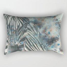 Furious Zebra Rectangular Pillow