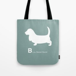 Basset Hound | Dogs series | Blue | Teal Tote Bag