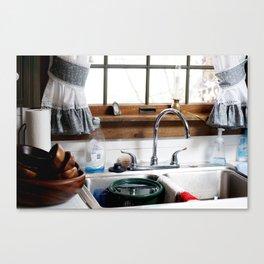 grandmas kitchen sink  Canvas Print