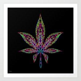 Marijuana Leaf Art Prints Society6