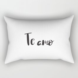 I Love You in Spanish Rectangular Pillow