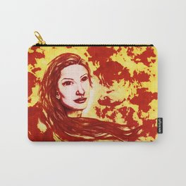 Lucid Bliss (red) - Original Sketch to Digital Carry-All Pouch