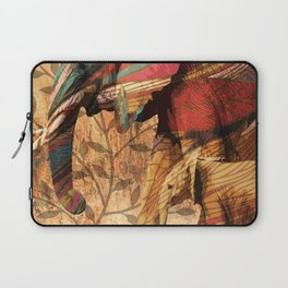 African Patterned Elephants Laptop Sleeve