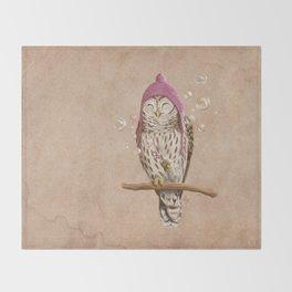 Happy Owl Throw Blanket