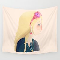ravenclaw Wall Tapestries featuring Luna by Nan Lawson