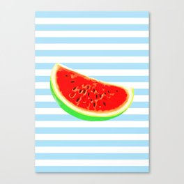 Watermelon, Summer Poster, Summer T-Shirt, Summer colors, blue Canvas Print