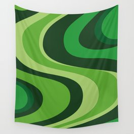 70's Green Vibe Wall Tapestry