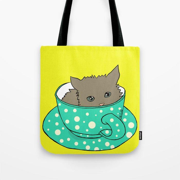 Kitten In A Teacup Tote Bag