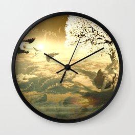Forgoten Paradise Wall Clock