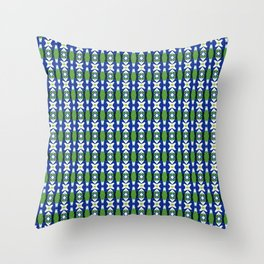 Links of Blue and Green Throw Pillow