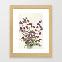 Purple Floral Still Life Framed Art Print