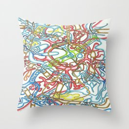 Angel and the Wolf Throw Pillow