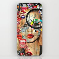 poker iPhone & iPod Skins featuring Poker Face by Katy Hirschfeld