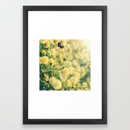 The tree and the bee Framed Art Print