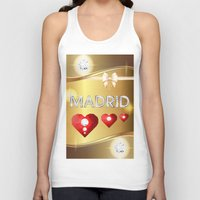 madrid Tank Tops featuring Madrid 01 by Daftblue