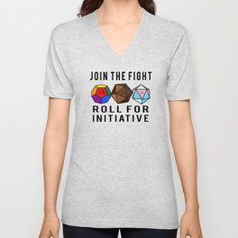 Join The Fight - Roll For Initiative Unisex V-Neck