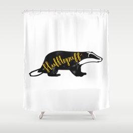 Hufflepuff Badger Shower Curtain
