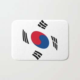 flag of south korea 2 -korea,asia, 서울특별시,부산광역시, 한국,seoul Bath Mat
