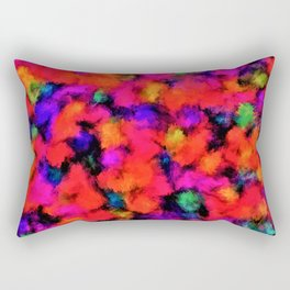 Bright Rainbow Colors Rectangular Pillow