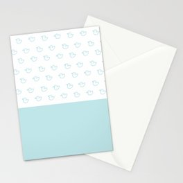 Ducklings Mint Stationery Cards