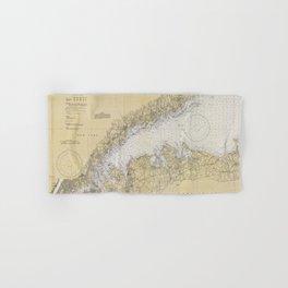 Vintage Map of The Long Island Sound (1934) Hand & Bath Towel