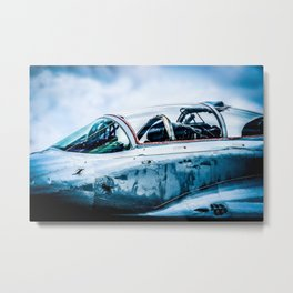 Cockpit Of A Modern Two-Seater Fighter Plane. Aviation Art Metal Print