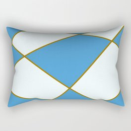 Geometric abstract - blue and brown. Rectangular Pillow