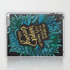 Zelda Fitzgerald – Blue on Black Laptop & iPad Skin