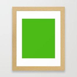 Kelly Green - solid color Framed Art Print