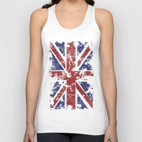 uk Tank Tops featuring Grunge UK by Sitchko Igor