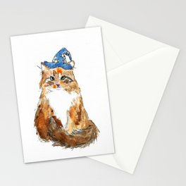 Maine Coon Cat Wizard Stationery Cards