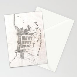 Vintage Map of Albany New York (1770) Stationery Cards