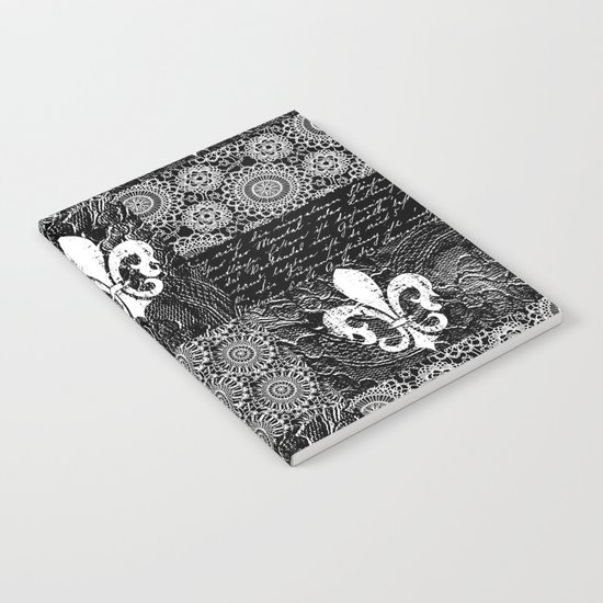 Black and white lace Notebook
