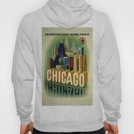 Chicago, American Airlines - Vintage Poster Hoody