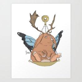 Zodiacal Chimera: The Rabbit Art Print