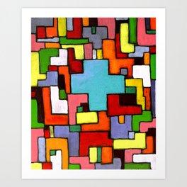 Grüne Kreuz Art Print