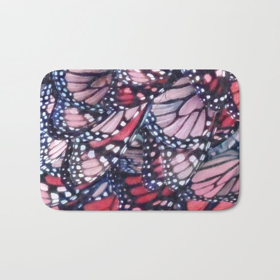 Monarch Butterflies Bath Mat