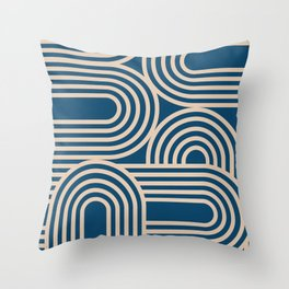 Abstraction_WAVE_GRAPHIC_VISUAL_ART_Minimalism_001 Throw Pillow