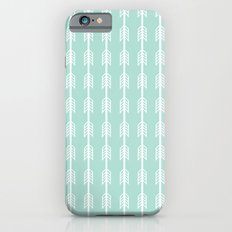 Isabella - minimal arrows mint and white modern dorm college nursery kids art iPhone 6s Slim Case