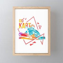 Karting Go-Kart track Racing Kart Karting Driving Framed Mini Art Print