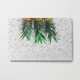 Three pinapples Metal Print