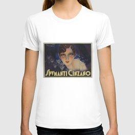 Spectacular Vintage 1933 Cinzano Advertisement by Plinio Codognato T-shirt