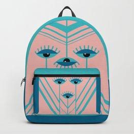 Unamused Eyes - Art Deco Backpack
